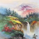 """Hand painted oil painting on canvas""""Image of the countryside""""60x90CM(23.6""""x35.4"""")Unframed-110"""