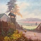 """Hand painted oil painting on canvas""""Image of the countryside""""60x80CM(24""""x33"""")Unframed-111"""