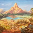 """Hand painted oil painting on canvas""""Creek""""60x120CM(23.6""""x47.2"""")Unframed-249"""