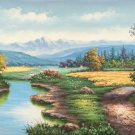"""Hand painted oil painting on canvas""""Creek""""60x120CM(23.6""""x47.2"""")Unframed-250"""