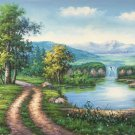 "Hand painted oil painting on canvas""Creek""60x120CM(23.6""x47.2"")Unframed-254"