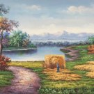 "Hand painted oil painting on canvas""Creek""60x120CM(23.6""x47.2"")Unframed-255"