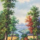 """Hand painted oil painting on canvas""""Creek""""60x120CM(23.6""""x47.2"""")Unframed-257"""