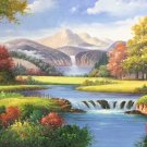 """Hand painted oil painting on canvas""""Creek""""80x200CM(33""""x80"""")Unframed-259"""