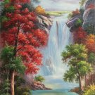 "Hand painted oil painting on canvas""Creek""80x160CM(33""x63"")Unframed-262"