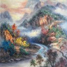 """Hand painted oil painting on canvas""""Creek""""80x100CM(33""""x40"""")Unframed-267"""