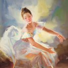 "European style Body Art Hand painted oil painting on canvas""Ballet girl""60x90CM(24""x36"")Unframed-07"