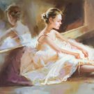 "European style Body Art Hand painted oil painting on canvas""Ballet girl""60x90CM(24""x36"")Unframed-08"