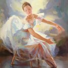 "European style Body Art Hand painted oil painting on canvas""Ballet girl""60x90CM(24""x36"")Unframed-09"