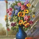 "Simple modern Hand painted oil painting on canvas""Potted flowers""60x90CM(23.6""x35.4"")Unframed-51"
