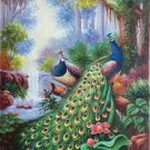"""Simple modern Hand painted oil painting on canvas""""Gorgeous peacock""""60x90CM(23.6""""x35.4"""")Unframed-38"""