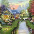 """Hand painted oil painting on canvas""""Image of the countryside""""50x60CM(19.7""""x23.6"""")Unframed-118"""