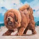 "Hand-painted oil painting on canvas""Tibetan mastiff""90x120CM(36""x48"")Unframed-07"