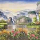 "Hand painted oil painting on canvas""Creek""60x120CM(23.6""x47.2"")Unframed-271"