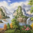 "Hand painted oil painting on canvas""Creek""60x120CM(23.6""x47.2"")Unframed-272"
