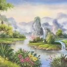 "Hand painted oil painting on canvas""Creek""60x120CM(23.6""x47.2"")Unframed-276"