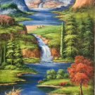 """Hand painted oil painting on canvas""""Creek""""60x120CM(23.6""""x47.2"""")Unframed-278"""