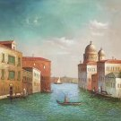 """Hand painted oil painting on canvas""""Venice""""50x60CM(20""""x24"""")Unframed-24"""