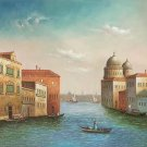 """Hand painted oil painting on canvas""""Venice""""50x60CM(20""""x24"""")Unframed-27"""