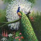 "Simple modern Hand painted oil painting on canvas""Gorgeous peacock""60x90CM(23.6""x35.4"")Unframed-44"