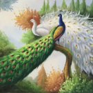 "Simple modern Hand painted oil painting on canvas""Gorgeous peacock""60x90CM(23.6""x35.4"")Unframed-47"