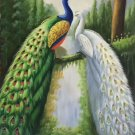 """Simple modern Hand painted oil painting on canvas""""Gorgeous peacock""""60x90CM(23.6""""x35.4"""")Unframed-48"""