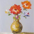 "Simple modern Hand painted oil painting on canvas""Flowers""30x40CM(12""x16"")Unframed-39"