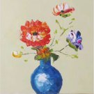 "Simple modern Hand painted oil painting on canvas""Flowers""30x40CM(12""x16"")Unframed-40"