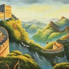 """Chinese style Hand painted oil painting on canvas""""Great Wall""""70x180CM(27.6""""x70.9"""")Unframed-09"""