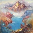 "Simple modern Hand painted oil painting on canvas""dusk""50x60CM(19.7""x23.6"")Unframed-31"