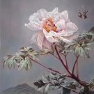 "Hand painted oil painting on canvas""Peony""50x100CM(20""x40"")Unframed-08"