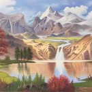 """American style Hand painted oil painting on canvas""""Creek""""70x180CM(27.6""""x70.9"""")Unframed-294"""