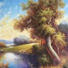 "Hand painted oil painting on canvas""Creek""60x90CM(23.6""x35.4"")Unframed-296"