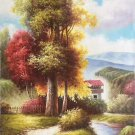 """Hand painted oil painting on canvas""""Creek""""60x90CM(23.6""""x35.4"""")Unframed-299"""