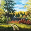 """Hand painted oil painting on canvas""""Creek""""60x120CM(23.6""""x47.2"""")Unframed-301"""