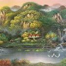 """Hand painted oil painting on canvas""""Creek""""80x180CM(33""""x72"""")Unframed-307"""