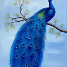 """Simple modern Hand painted oil painting on canvas""""Gorgeous peacock""""60x90CM(23.6""""x35.4"""")Unframed-55"""