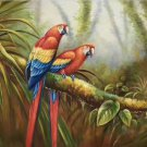 "Hand painted oil painting on canvas""Colorful parrot""60x90CM(24""x36"")Unframed-10"