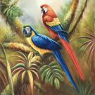 "Hand painted oil painting on canvas""Colorful parrot""60x90CM(24""x36"")Unframed-12"
