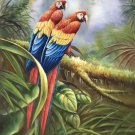 "Hand painted oil painting on canvas""Colorful parrot""60x90CM(24""x36"")Unframed-15"