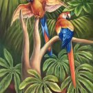 "Hand painted oil painting on canvas""Colorful parrot""60x90CM(24""x36"")Unframed-16"