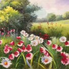 """Hand painted oil painting on canvas""""tiny Pink blossoms""""60x120CM(23.6""""x47.2"""")Unframed-15"""