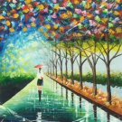 """Hand painted oil painting on canvas""""Colorful""""50x60CM(19.7""""x23.6"""")Unframed-35"""