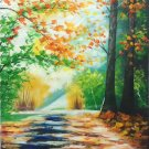 "Hand painted oil painting on canvas""Colorful""50x60CM(19.7""x23.6"")Unframed-38"