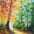 "Hand painted oil painting on canvas""Colorful""50x60CM(19.7""x23.6"")Unframed-39"