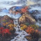"""American style Hand painted oil painting on canvas""""Creek""""100x110CM(40""""x45"""")Unframed-322"""