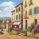 "Hand painted oil painting on canvas""Sea view Villa""60x120CM(23.6""x47.2"")Unframed-79"