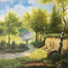 "Hand painted oil painting on canvas""Creek""50x60CM(19.7""x23.6"")Unframed-332"