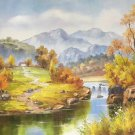 """Hand painted oil painting on canvas""""Creek""""50x60CM(19.7""""x23.6"""")Unframed-337"""