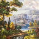 """Hand painted oil painting on canvas""""Creek""""60x90CM(23.6""""x35.4"""")Unframed-347"""